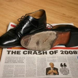 2008 Crash Headline Shoes Sole Hole