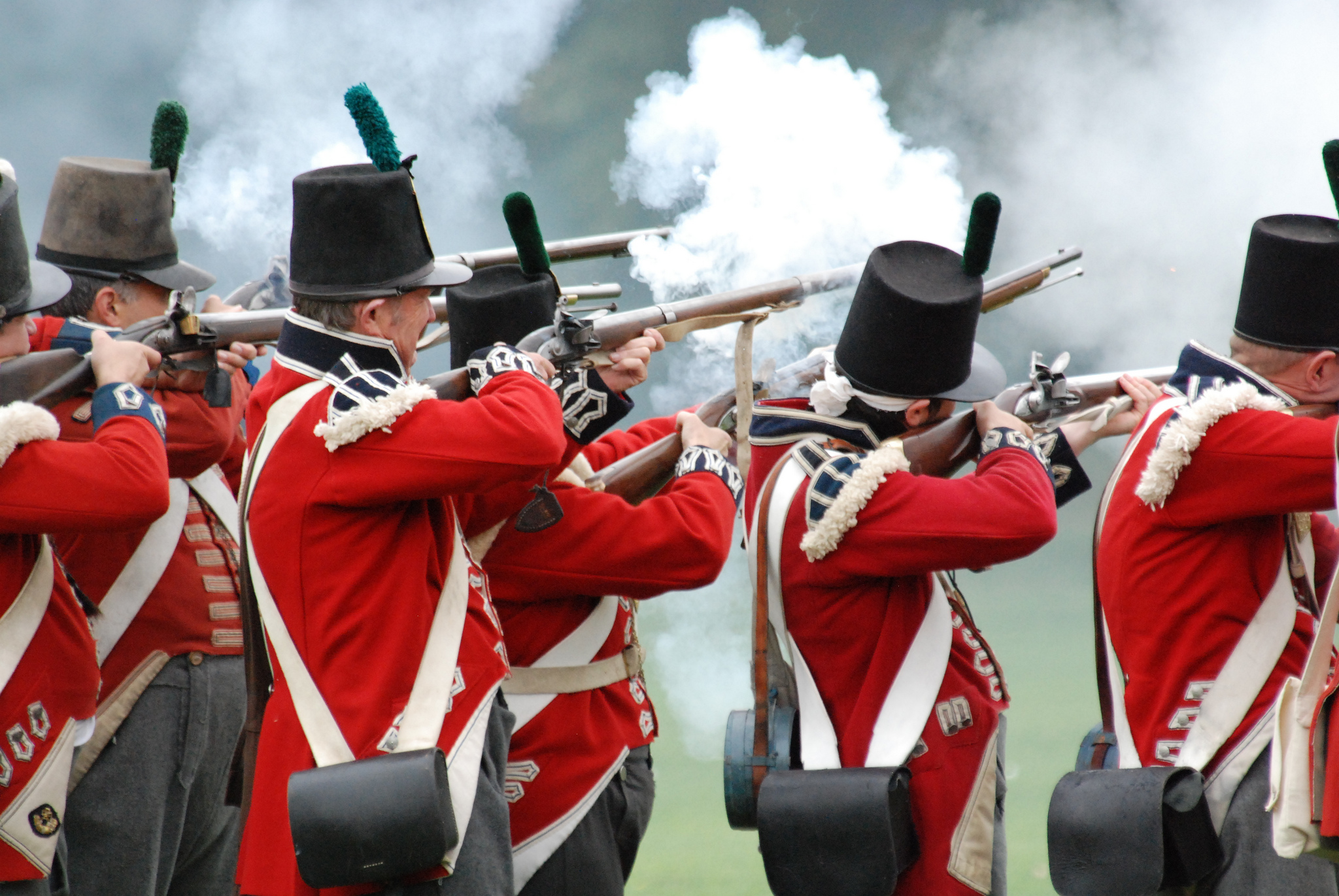 gold reserves, banks, central banks British Redcoats Muskets