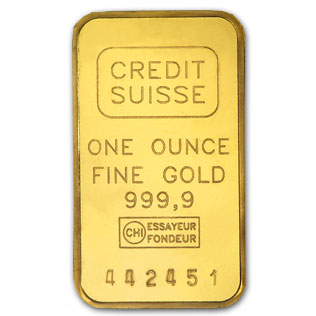 Crédité Suisse Gold Bar