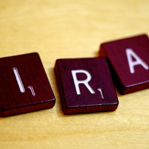 IRA Scrabble Pieces