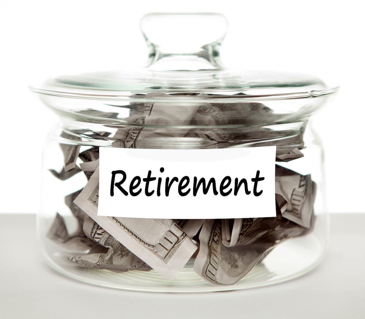 Retirement Plan Money Jar