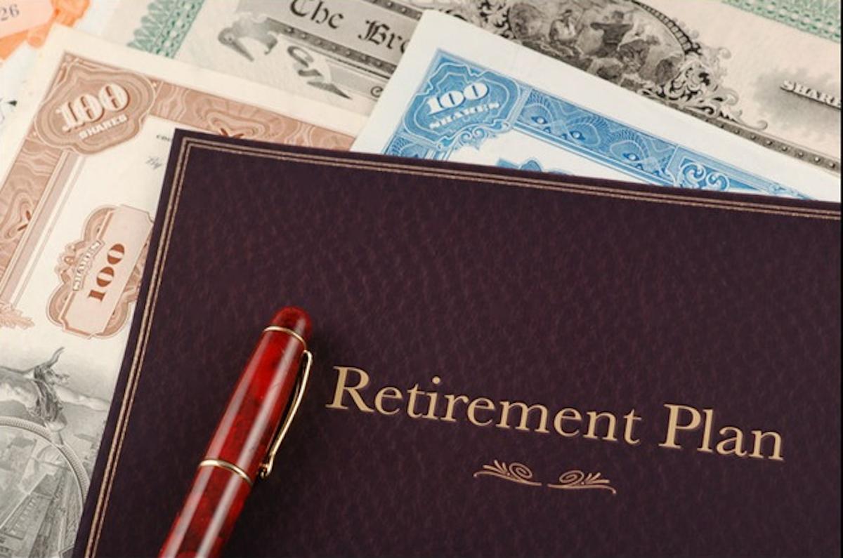 Retirement Plan Leather Folder Money Red Pen