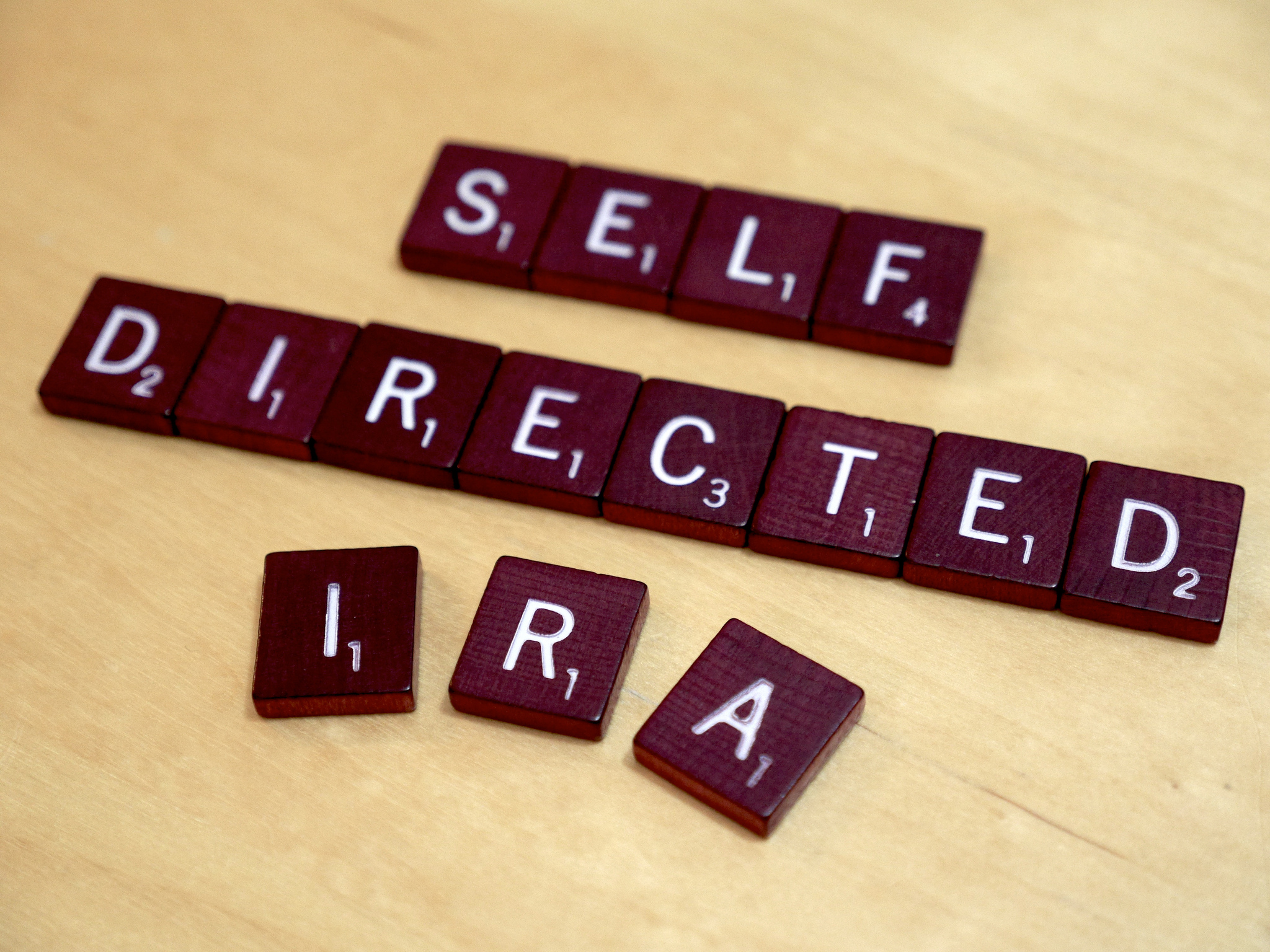 Self Directed IRA Scrabble Letters