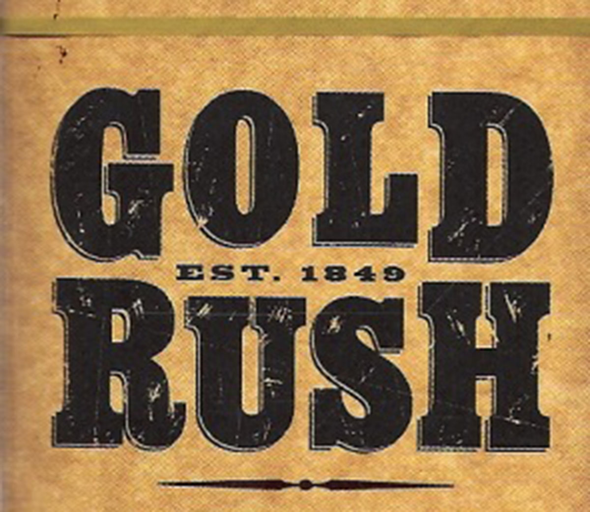 Vintage Gold Investing Rush Poster