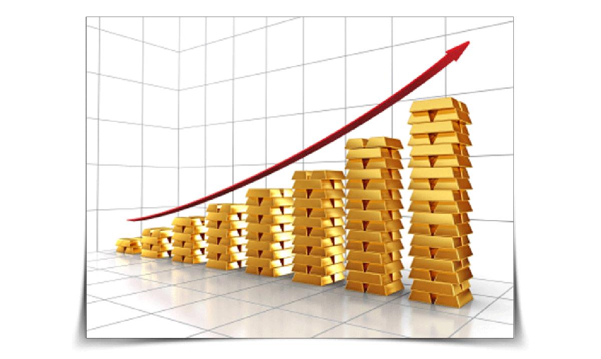 Rising Gold Bullion Bars Chart Gold IRA Best Retirement Strategies