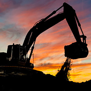Mining Truck Magic Hour Sunset